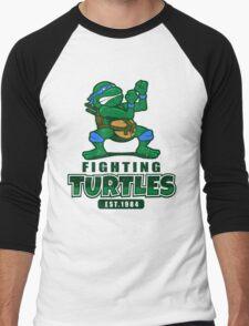 Fighting Turtles - Leonardo Men's Baseball ¾ T-Shirt