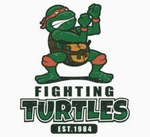 Fighting Turtles - Michelangelo Kids Clothes