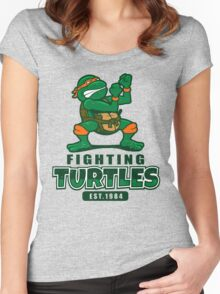 Fighting Turtles - Michelangelo Women's Fitted Scoop T-Shirt