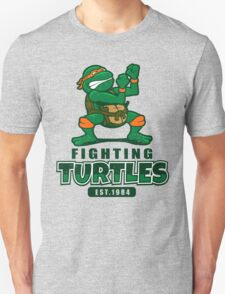 Fighting Turtles - Michelangelo Unisex T-Shirt