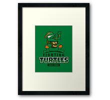 Fighting Turtles - Michelangelo Framed Print