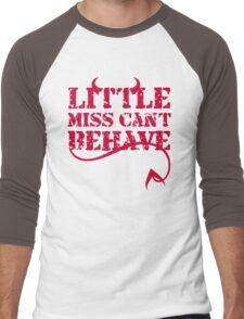 Little Miss Can't Behave Men's Baseball ¾ T-Shirt