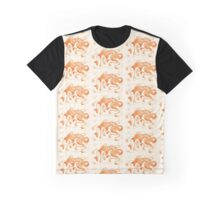 Celestial Fox Beige & Orange Graphic T-Shirt