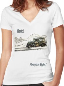Classic ! Women's Fitted V-Neck T-Shirt