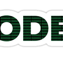 Coder - Binary Sticker