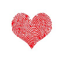 Leave Your Mark heartprint Photographic Print