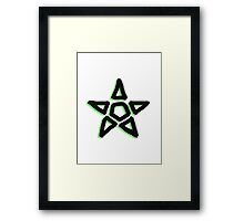 Light Green Star Framed Print