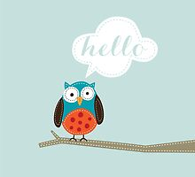 Owl Saying Hello! by mallorybottesch