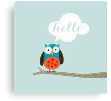 Owl Saying Hello! Canvas Print