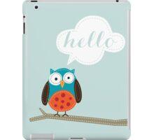 Owl Saying Hello! iPad Case/Skin