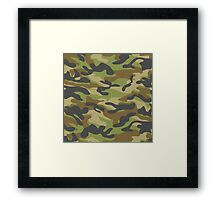 Military Camouflage Pattern 6 Framed Print