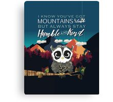 Humble and Kind Owl Mountain Canvas Print