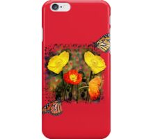 Yellow and Red Poppies iPhone Case/Skin