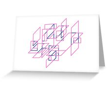 Pink and Blue Array Greeting Card