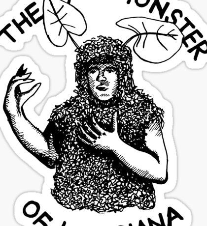 The Bog Monster of Louisiana Sticker