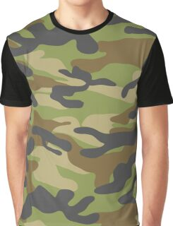 Military Camouflage Pattern 6 Graphic T-Shirt