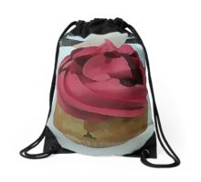 Hot Pink Cupcake Drawstring Bag