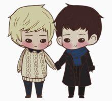 Merlin and Arthur as Sherlock and John One Piece - Short Sleeve