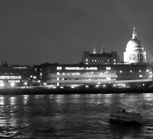 St. Paul's above the Thames by Netnoe