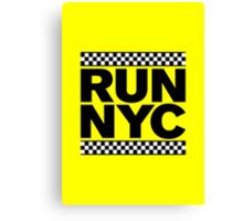 RUN NYC TAXI Canvas Print
