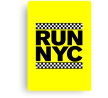RUN NYC TAXI Canvas Print