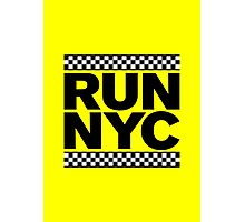 RUN NYC TAXI Photographic Print