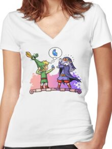 Zelda Vaati and Link  Women's Fitted V-Neck T-Shirt