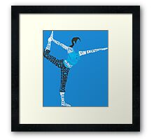 Wii Fit Trainer Typography Framed Print