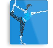 Wii Fit Trainer Typography Metal Print