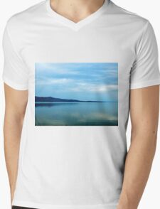 Shoreline under the Clouds Mens V-Neck T-Shirt