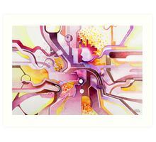 Sunberry - Abstract Watercolor Painting Art Print
