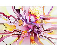 Sunberry - Abstract Watercolor Painting Photographic Print