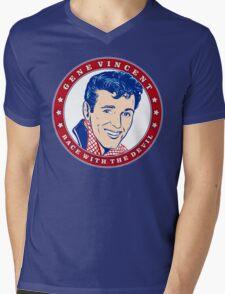 Gene Vincent Race With The Devil Mens V-Neck T-Shirt