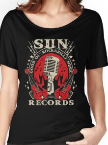Sun Records : Good Ol' Rockabilly Music Women's Relaxed Fit T-Shirt