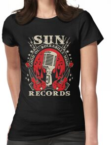 Sun Records : Good Ol' Rockabilly Music Womens Fitted T-Shirt