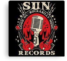 Sun Records : Good Ol' Rockabilly Music Canvas Print
