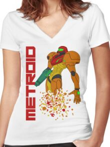 Turning to Zero Women's Fitted V-Neck T-Shirt