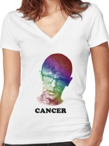 FRICK CANCER with idubbbz Women's Fitted V-Neck T-Shirt