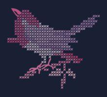 Bird Embroidery for Baby Girl Kids Tee