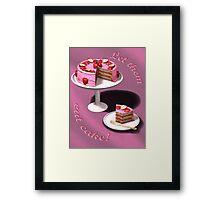 Let them eat cake! Framed Print