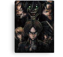 Jaeger Bombs Attack on Titan Epic Painting Canvas Print