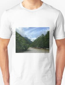 Path to mountains Unisex T-Shirt