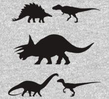 Kids Dinosaur Shirt One Piece - Short Sleeve