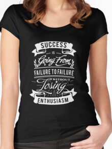Cool black and white Motivational quote about success Women's Fitted Scoop T-Shirt