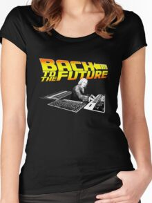 Bach to the future! Women's Fitted Scoop T-Shirt