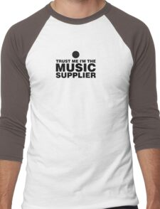 Music supplier (black) Men's Baseball ¾ T-Shirt