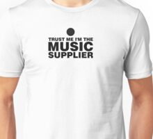 Music supplier (black) Unisex T-Shirt