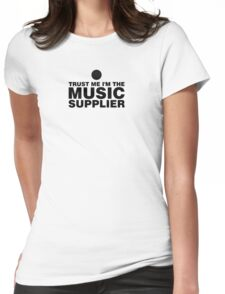 Music supplier (black) Womens Fitted T-Shirt