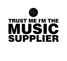 Music supplier (black) Photographic Print