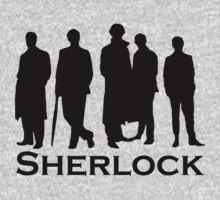 Sherlock Silhouettes  Baby Tee